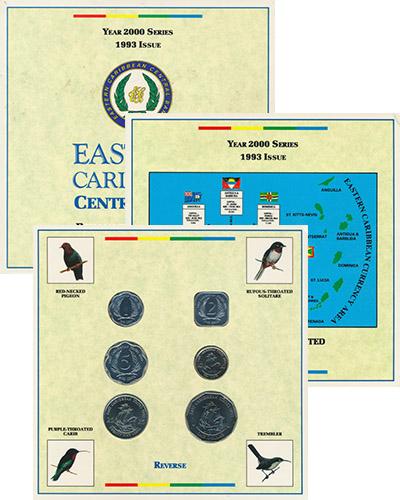 Изображение Подарочные наборы Карибы Выпуск 1993 года 1993  UNC Выпуск монет 1993 го