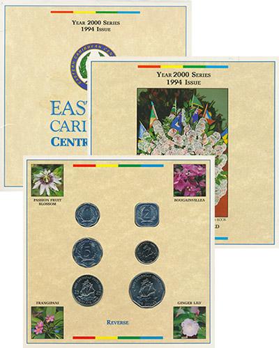 Изображение Подарочные наборы Карибы Выпуск 1994 года 1994  UNC Выпуск монет 1994 го