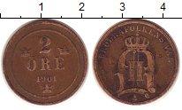 Изображение Монеты Швеция 2 эре 1901 Бронза XF
