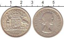 Изображение Монеты Австралия 1 флорин 1960 Серебро XF