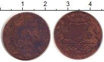 Изображение Монеты Нидерландская Индия 1 дьюит 1735 Медь VF