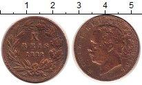Изображение Монеты Португалия 10 рейс 1882 Бронза VF Луиш I