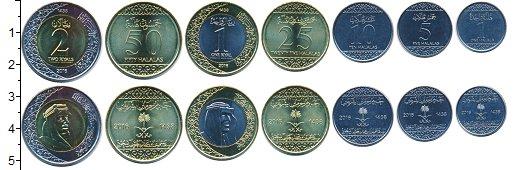 Изображение Наборы монет Саудовская Аравия Саудовская Аравия 2016 2016  UNC- В наборе 7 монет ном