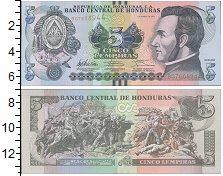 Изображение Банкноты Гондурас 5 лемпир 2012  UNC Хосе Франсиско Морас