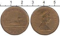 Изображение Монеты Канада 1 доллар 1987 Латунь XF