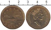 Изображение Монеты Канада 1 доллар 1991 Латунь UNC
