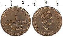 Изображение Мелочь Канада 1 доллар 1992 Латунь UNC 125 лет Конфедерации
