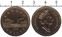 Изображение Монеты Канада 1 доллар 1995 Латунь UNC