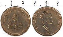 Изображение Мелочь Канада 1 доллар 1995 Латунь UNC