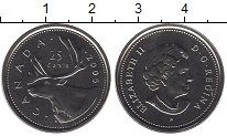 Изображение Монеты Канада 25 центов 2005 Медно-никель UNC