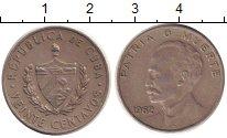 Изображение Монеты Куба 20 сентаво 1962 Медно-никель XF Хосе  Марти.  Родина