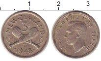 Изображение Монеты Новая Зеландия 3 пенса 1948 Медно-никель VF