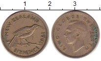 Изображение Монеты Новая Зеландия 6 пенсов 1951 Медно-никель VF