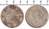 Изображение Монеты Испания 100 песет 1966 Серебро XF Каудильо  Франциско