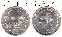 Изображение Монеты Испания 2000 песет 1996 Серебро UNC
