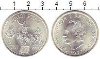 Изображение Монеты Испания 2000 песет 1997 Серебро UNC