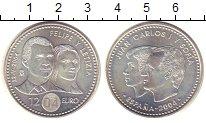 Изображение Монеты Испания 12 евро 2004 Серебро UNC Фелипе  и  Летиция