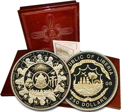 Изображение Монеты Либерия 250 долларов 2008 Золото Proof Самыми известными ср
