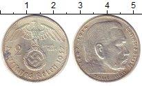 Изображение Монеты Третий Рейх 2 марки 1937 Серебро XF A
