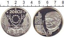 Изображение Монеты Финляндия 20 экю 1995 Серебро Proof- Йохан Рунеберг