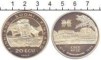 Изображение Монеты Финляндия 20 экю 1992 Серебро Proof-