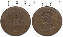 Изображение Монеты Ватикан 4 сольди 1866 Медь XF