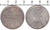 Изображение Монеты Индия 1 рупия 1876 Серебро XF
