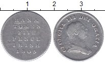 Изображение Монеты Ирландия 5 пенсов 1805 Серебро VF ТОКЕН.  Георг III