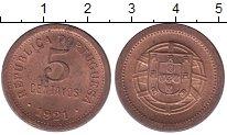 Изображение Монеты Португалия 5 сентаво 1921 Бронза UNC-