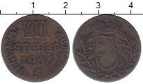 Изображение Монеты Берг 3 стюбера 1806 Серебро VF Иосиф  Максимилиан I