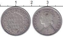 Изображение Монеты Индия 1/4 рупии 1898 Серебро VF