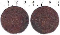 Изображение Монеты Бразилия 80 рейс 1820 Медь VF Португальская колони