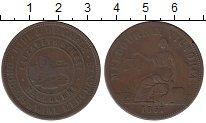 Изображение Монеты Австралия 1 пенни 1857 Бронза VF
