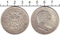 Изображение Монеты Германия Вюртемберг 5 марок 1901 Серебро XF-
