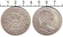 Изображение Монеты Вюртемберг 5 марок 1901 Серебро XF-