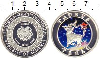 Монета Армения 100 драм Серебро 2008 Proof фото