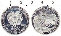 Изображение Монеты Армения 200 драм 2013 Серебро Proof Ноев  ковчег