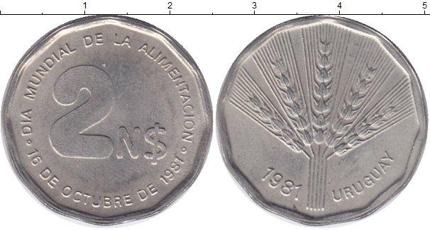 Картинка Монеты Уругвай 2 песо Медно-никель 1981