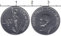 Изображение Монеты Ватикан 100 лир 1991 Сталь UNC