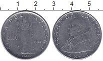 Изображение Монеты Ватикан 100 лир 1960 Сталь UNC