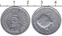 Изображение Монеты Сингапур 5 центов 1971 Алюминий UNC ФАО