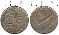 Изображение Монеты Западно-Африканский Союз 25 франков 2002 Латунь UNC лаборатория