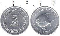 Изображение Монеты Сингапур 5 центов 1971 Алюминий UNC