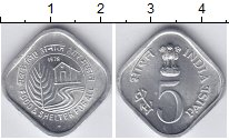 Изображение Монеты Индия 5 пайс 1978 Алюминий UNC