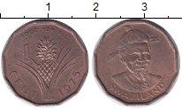Изображение Монеты Свазиленд 1 цент 1975 Медь UNC