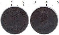 Изображение Монеты Западная Африка 1 шиллинг 1936 Медь XF-