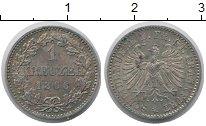 Изображение Монеты Франкфурт 1 крейцер 1866 Серебро XF+