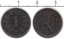 Изображение Монеты Норвегия 1 эре 1884 Медь XF Оскар II