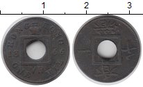 Изображение Монеты Гонконг 1 мил 1866 Медь XF-