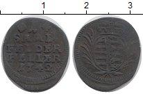 Изображение Монеты Саксония 1 геллер 1742 Медь VF герб